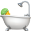 Person Taking Bath Emoji (Apple)