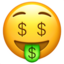 Money-Mouth Face Emoji (Apple)