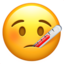 Face With Thermometer Emoji (Apple)