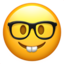 Nerd Face Emoji (Apple)