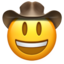 Cowboy Hat Face Emoji (Apple)