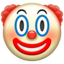 Clown Face Emoji (Apple)