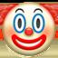 klouno veidas Emoji (Apple)