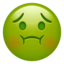 Nauseated Face Emoji (Apple)