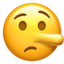 Lying Face Emoji (Apple)