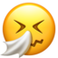 Sneezing Face Emoji (Apple)