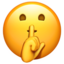Shushing Face Emoji (Apple)