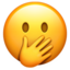 Face With Hand Over Mouth Emoji (Apple)