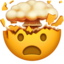 Exploding Head Emoji (Apple)