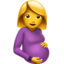 Pregnant Woman Emoji (Apple)