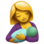 Breast-Feeding Emoji (Apple)