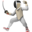 Person Fencing Emoji (Apple)