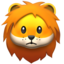 Lion Face Emoji (Apple)