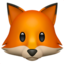 Fox Face Emoji (Apple)