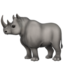 Rhinoceros Emoji (Apple)