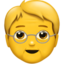 Older Adult Emoji (Apple)