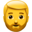 Bearded Person Emoji (Apple)
