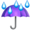 Umbrella With Rain Drops Emoji (Apple)