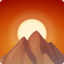 Sunrise Over Mountains Emoji (Facebook)