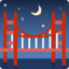 Bridge At Night Emoji (Facebook)
