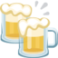 Clinking Beer Mugs Emoji (Facebook)