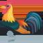 Rooster Emoji (Facebook)