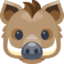 Boar Emoji (Facebook)