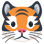 Tiger Face Emoji (Facebook)