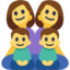 Family: Woman, Woman, Boy, Boy Emoji (Facebook)