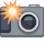 Camera With Flash Emoji (Facebook)