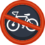No Bicycles Emoji (Facebook)