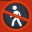 No Pedestrians Emoji (Facebook)