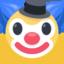 klouno veidas Emoji (Facebook)