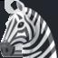 zebra Emoji (Facebook)