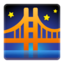 Bridge At Night Emoji (Google)