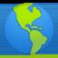 Globe Showing Americas Emoji (Google)
