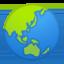 žemės rutulys su Azijos ir Australijos žemynais Emoji (Google)