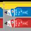 aquilone a forma di carpa Emoji (Google)