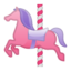 karuselės arkliukas Emoji (Google)