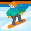 Snowboarder Emoji (Google)