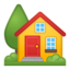 House With Garden Emoji (Google)