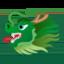 tête de dragon Emoji (Google)