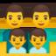 Family: Man, Man, Boy, Boy Emoji (Google)