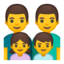 Family: Man, Man, Girl, Boy Emoji (Google)