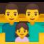 famiglia: uomo, uomo e bambina Emoji (Google)