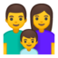 Family: Man, Woman, Boy Emoji (Google)