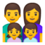 Family: Man, Woman, Girl, Boy Emoji (Google)