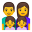 Family: Man, Woman, Girl, Girl Emoji (Google)