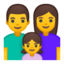 Family: Man, Woman, Girl Emoji (Google)