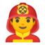 Man Firefighter Emoji (Google)